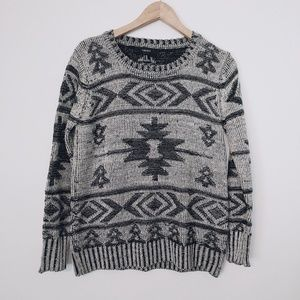 Forever 21 Aztec Tribal Pullover Sweater
